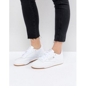 Reebok Club C sneakers in white and gum for Women New Style OCFE779