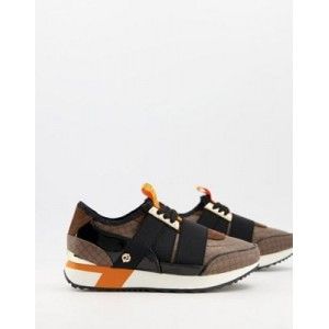 River Island monogram bandage runner sneakers in brown Size 11 for Young Women Online Wholesale EOBT576