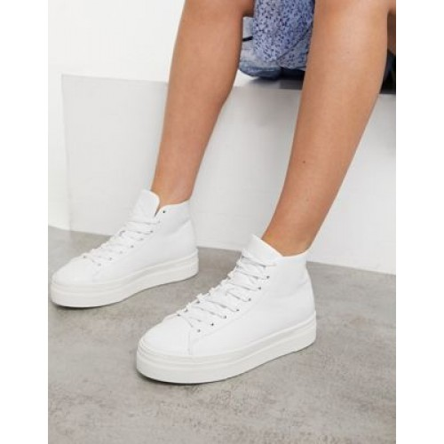 Selected Femme high top sneakers in white In Narrow Sizes Casual RYXY517