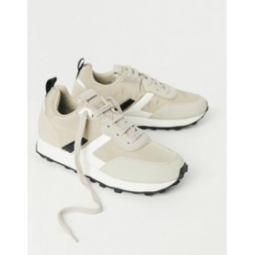 Stradivarius running sneakers in beige Size 12 Clearance Sale TUEX447