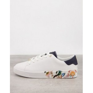 Ted Baker Azelea Decadence print cupsole sneakers in white quality NPPY147