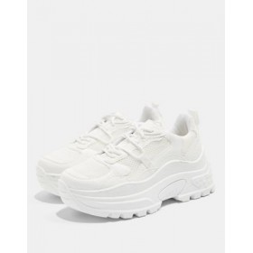 Topshop chunky sneakers in white In Narrow Width for Women's shopping ZJLG353
