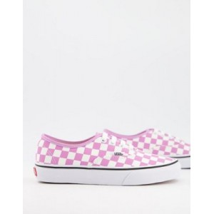 Vans UA Authentic checkerboard sneakers in pink Carnival Popular QIVH267