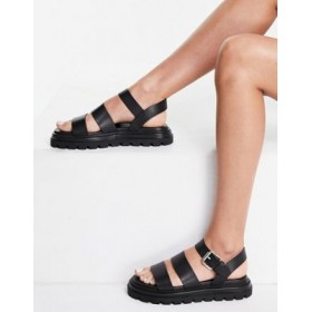 & Other Stories leather chunky strappy sandals in black Casual YPJK467