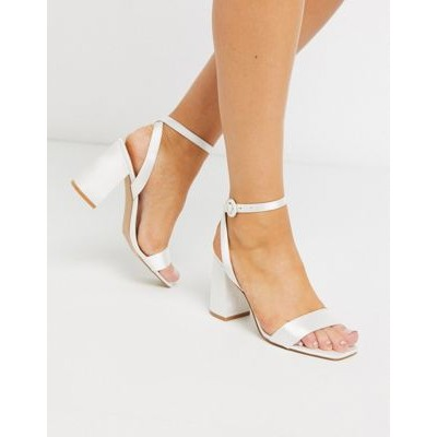 Be Mine Bridal Wink heeled sandals in ivory satin HHJH320