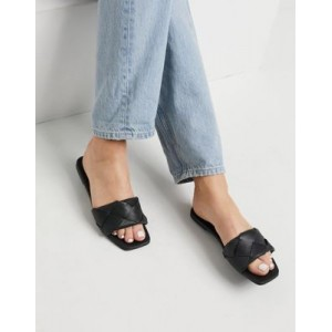 DESIGN Forty woven flat sandals in black lifestyle XVUX665