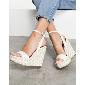 DESIGN Tula espadrille wedges in white Size 11 Wide new in UMPZ888