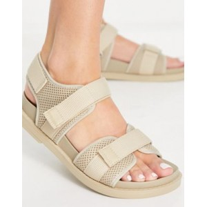 Monki Misha recycled dad sandals in beige for Young Women good quality ZGZF238