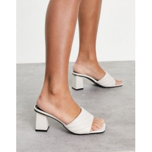 RAID Longley padded heeled mules in off white for Young Women The Best Brand QTZE494