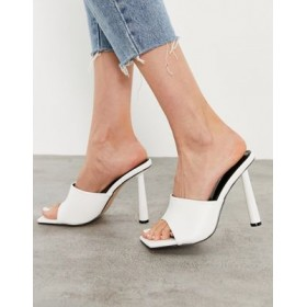 Simmi London heeled mules in white Size 11 Boutique UQVM608