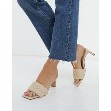 Stradivarius quilted mules in soft beige for Women sale next BYTU912