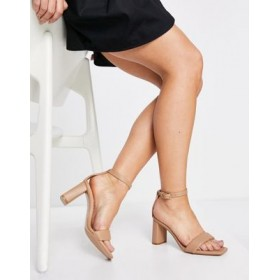 Stradivarius strappy heeled sandal in light brown Size 11 Wide for Women's The Top Selling HYMU426