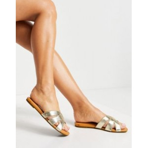 UGG Teague sandals in gold leather Width for Women's MOEZ928