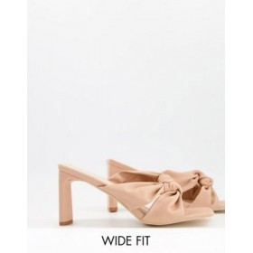 Z_Code_Z Wide Fit Exclusive Lorny twist front mules in beige Big Size Collection SRKP349