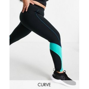 4505 Curve color block botty sculpt leggings with side graphic Training for Women's Ships Free EQFU873