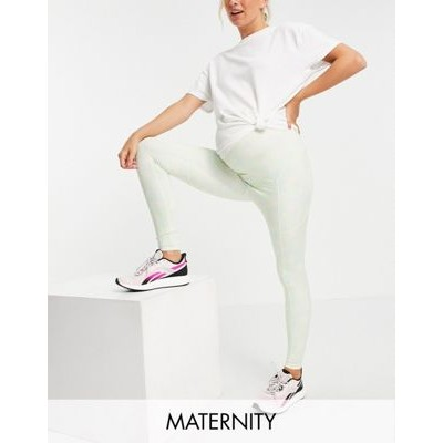 4505 Maternity legging with bum sculpt detail in print in recycled polyester for Women 2021 HGBG305