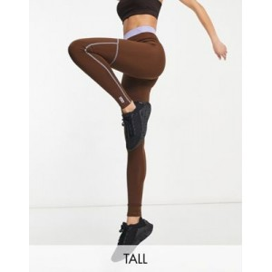 4505 Tall legging with contrast waist and seam detail new look NIQE285
