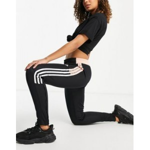 adidas Football Tiro track pant in black and pink Companies for Young Women Trend AFVD895