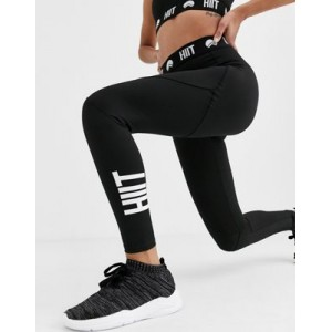 HIIT leggings with branded waist in black Big W for Women's outlet LWDT456