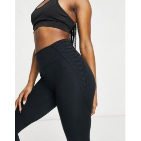 Nike Training luxe One Tight 7/8 with lace detail in black for Women's stores HAGN141