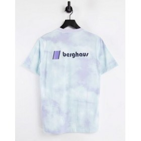 Berghaus Heritage Front and Back logo t-shirt in purple tie dye for Women IEPB235