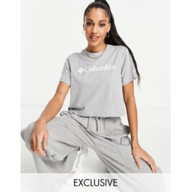 Columbia CSC crop t-shirt in light gray heather - Exclusive at for Women EQHU170