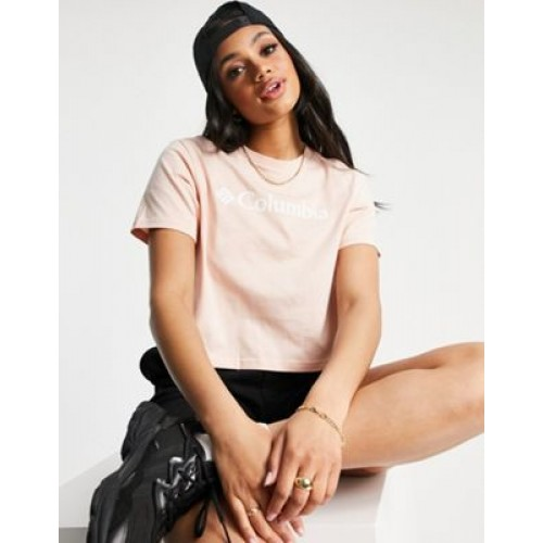 Columbia CSC crop T-shirt in light pink - Exclusive to Gym for Women's Trend LODD604