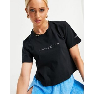 Columbia Park Box cropped t-shirt in black for Women WNVL375