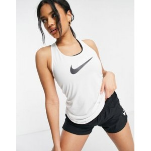 Nike Training Dry tank with Swoosh in white Gym for Women The Most Popular RJRX957