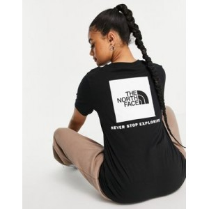 The North Face Box NSE back print T-shirt in black Petite for Women's The Best Brand QHJP132