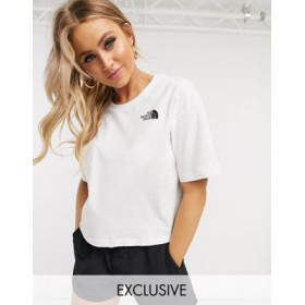 The North Face Simple Dome cropped t-shirt in white Exclusive at for Women Lowest Price ULIU825