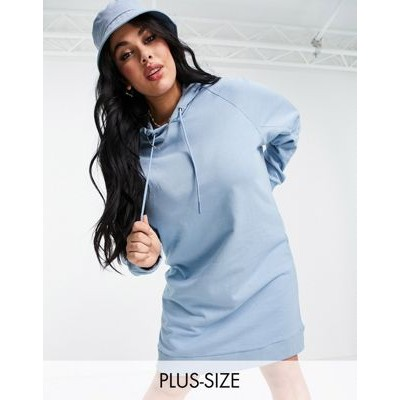 COLLUSION Plus hoodie dress in blue for Women YSTF688