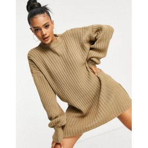I Saw It First knitted sweater dress in mocha for Women's Near Me OGSO823