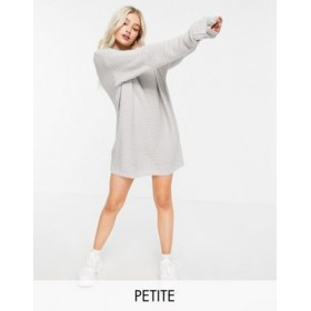Missguided Petite knitted sweater dress in gray Formal 2021 Trends UXTN951