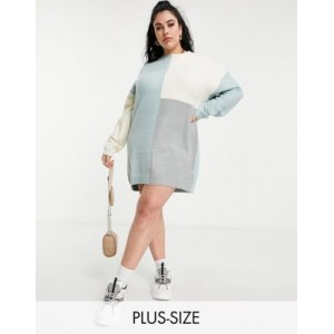 Missguided Plus color block sweater dress in blue for Women's good quality SBSO827