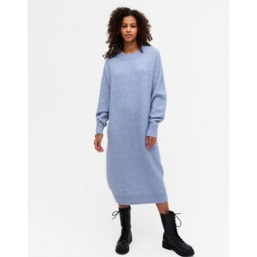 Monki Felia recycled polyester sweater dress in blue for Women Business Casual HUWY764