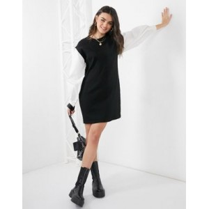 Vero Moda sweater dress with puff sleeves in black for Women ZOGD767