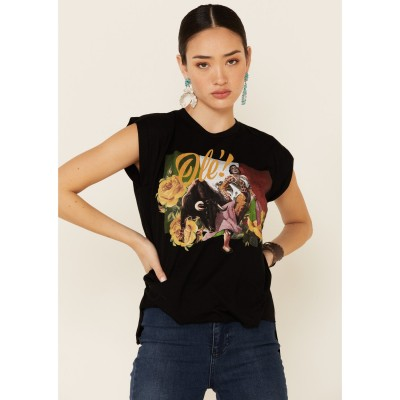 Rodeo Quincy Women's Mexicana Ole Flag Graphic Short Sleeve Tee Short Sleeve - Short Sleeve Shirts New Arrival XQ9D64699