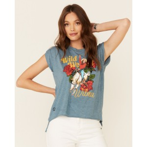 Rodeo Quincy Women's Wild West Wilma Graphic Short Sleeve Tee Hs Code - Short Sleeve Shirts business casual FD1OD1786