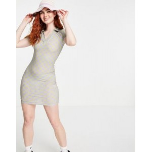 New Girl Order polo mini body-conscious dress in checkerboard Business Casual for Women's new look EEEB605