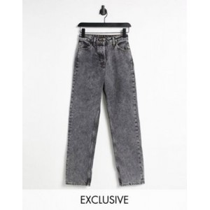 COLLUSION x005 90s straight leg jeans in black acid wash 26 Inch Waist online shopping SIMR218