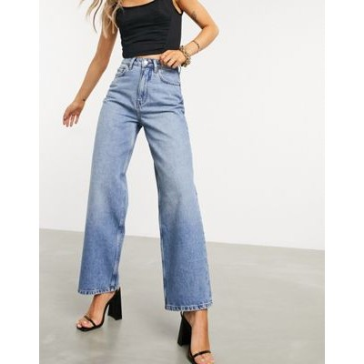 DESIGN high rise 'relaxed' dad jeans brightwash shop online NOBX689