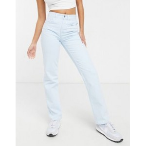 DESIGN mid rise '90s' straight leg jeans in powder blue Trend ULVC863