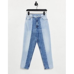 Monki Taiki organic cotton straight leg jeans in color block - part of a set Fit The Best Brand VSZQ312
