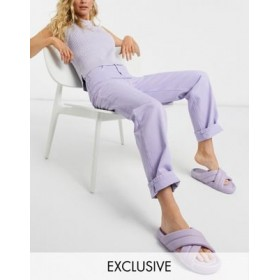Reclaimed Vintage Inspired 90s dad jeans in lilac wash Good Quality HEJH918
