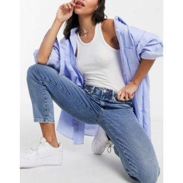 Tommy Jeans relaxed straight leg jean in mid wash 27 Inch Leg high quality QIET300