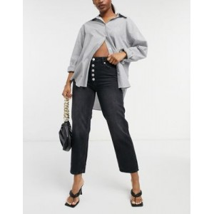 Whistles Hollie front button jean in black 2021 GMPA759
