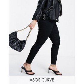 """DESIGN Curve high rise ridley """"skinny"""" jeans in clean black cool designs MOIS415"""