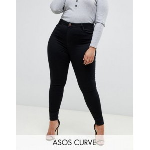 """DESIGN Curve high rise ridley """"skinny"""" jeans in clean black In Tall for Women's VSWR867"""