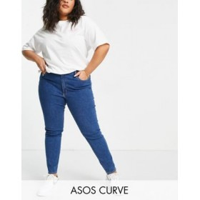 DESIGN Curve Ridley high rise skinny fit jeans in mid wash Hot Sale VCIY808